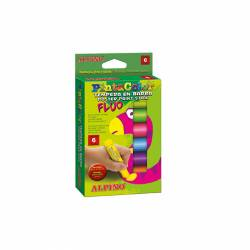 TEMPERA PINTACOLOR FLUOR ALPINO 6 COLORES