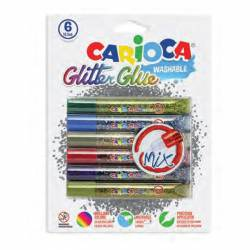 LAPIZ GLITTER CARIOCA MULTY 10'5ML B/6U