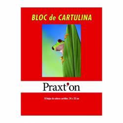 BLOC CARTULINAS PRAXTON 10H P/25U