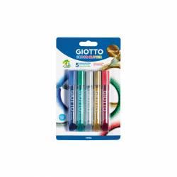 LAPIZ GLITTER GIOTTO METALLIC 10'5ML B/5