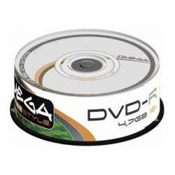 DVD-R (++) OMEGA 16X 4.7GB TARRINA 25U