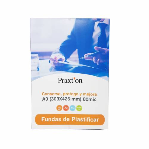 FUNDA PLASTIF. A3 303X426 PRAXTON 80MIC