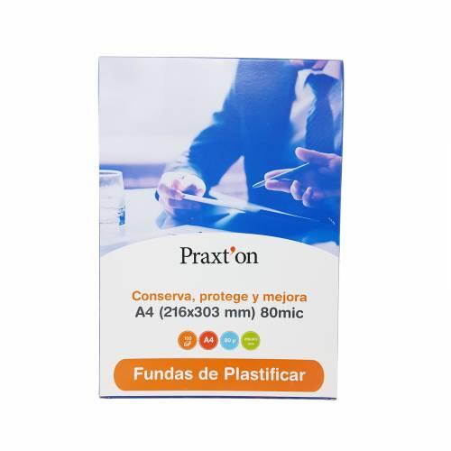FUNDA PLASTIF. A4 216X303 PRAXTON 80MIC