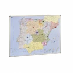 MAPA MAGNET. ESPAÑA Y PORTUGAL 101X137