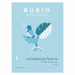 CUADERNO RUBIO COMPET. LECTORA 1 MUNDO SENSACIONES