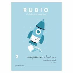 CUADERNO RUBIO COMPET. LECTORA 2 MUNDO ESPACIAL