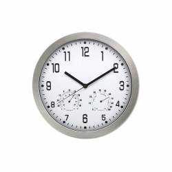 RELOJ DE PARED ANALOG. BISMARK 30CM PLATA 322219