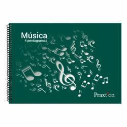 BLOC MUSICA 4º AP PRAXTON 4 PENTAGRAMAS P/20U