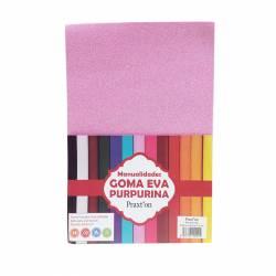 GOMA EVA GLITTER 20X30 ROSA P/5U