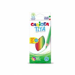 LAPIZ COLOR CARIOCA TITA HEXAGONAL 12L