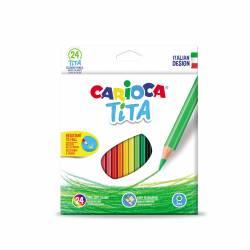 LAPIZ COLOR CARIOCA TITA HEXAGONAL 24L