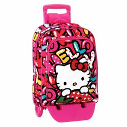 MOCHILA MONTICHELVO CARRO HELLO KITTY SWEETNESS L18