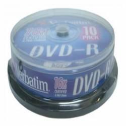 DVD-R (++) VERBATIM 16X 4.7GB TARRINA 10U