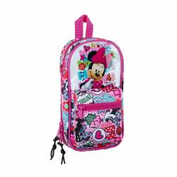 PLUMIER MOCHILA SAFTA 4 PORT. VACIO MINNIE COOL