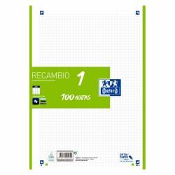 RECAMBIO A4 100H 90G OXFORD 4T 5X5 VERDE