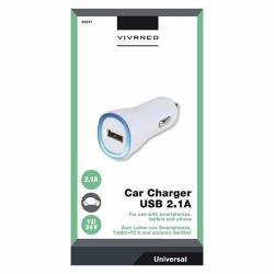 CARGADOR COCHE USB 2.1 BLANCO