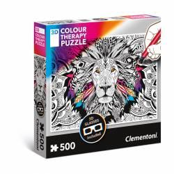 PUZZLE 500P CLEMENTONI THERAPY 3D LION