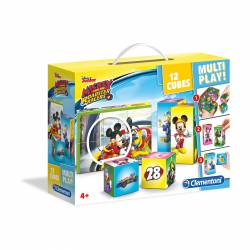 PUZZLE CLEMENTONI 12 CUBOS MULTI PLAY ROADSTER RACERS