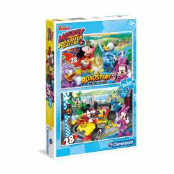 PUZZLE 2X20P CLEMENTONI MICKEY ROADSTER RACERS