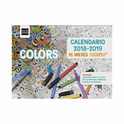 CALENDARIO ESCOLAR PARED 16 MESES COLORS