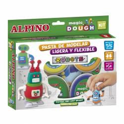 ALPINO MAGIC DOUGH 4X40G ROBOTS
