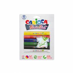 LAPIZ CARIOCA FABRIC PAINT TEXTIL 10,5ML SLEEK B/6U