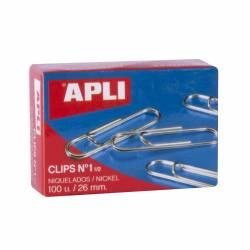 CLIPS METALICO APLI Nº 1½ 26MM 100U CAJA 10 CAJITAS