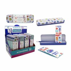 SET PAPELERIA 4P. PORTATODO METAL DIAMOND 327560