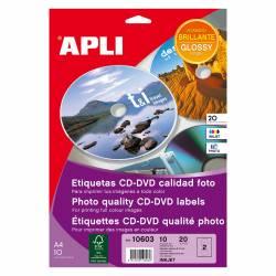 ETI. CD-DVD APLI MEGA GLOSSY 117X18 10H
