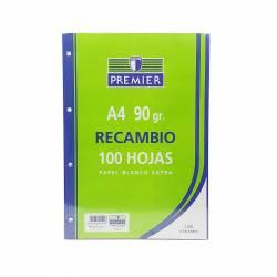 RECAMBIO A4 100H 90G PREMIER 4T LISO