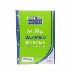 REC. BLOC A4 90G PREMIER 100H 4T 4X4