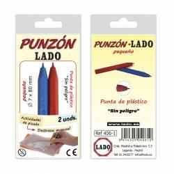 PUNZON LADO PEQUEÑO PUNTA PLASTICO 406-1 2U
