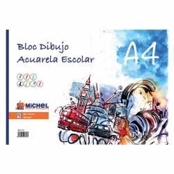BLOC ACUARELA A4 ESCOLAR MICHEL 200G 20H