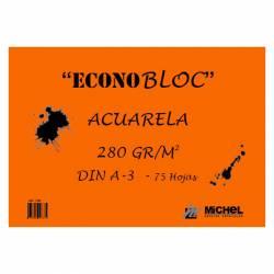 BLOC ACUARELA A3 ECONOBLOC 280G 75H