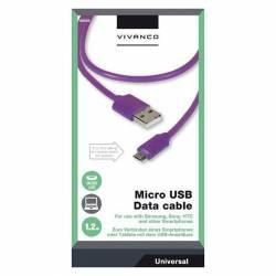 CABLE USB 2.0 A-MICROB 1'2M AZUL