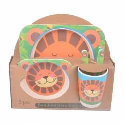 SET 5P BAMBU DINNER KIDS TIGRE MK-2712