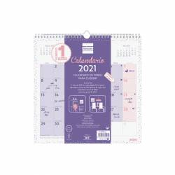 CALENDARIO FINOCAM PARED CHIC MORADO 30X30