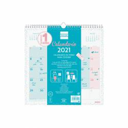 CALENDARIO FINOCAM PARED CHIC TURQUESA 30X30