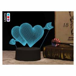 LAMPARA LED I-TOTAL 3D CORAZON CM3324