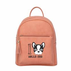 BOLSO MOCHILA 27X22 FRENCH BULL DOG MARRON 498908