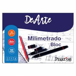 BLOC MILIMETRADO PRAXTON A4+ 50H