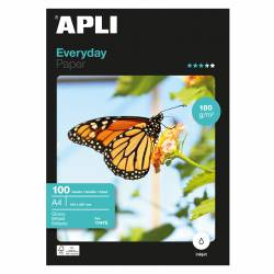PAPEL FOT. A4 APLI BRILLO EVERYDAY 180G 100H