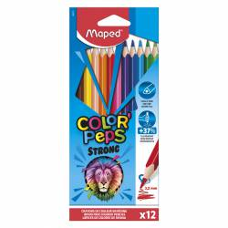 LAPIZ COLOR MAPED TRIANG. PEPS STRONG 12L