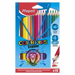 LAPIZ COLOR MAPED TRIANG. PEPS STRONG 18L