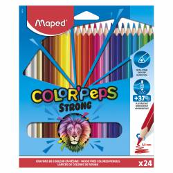 LAPIZ COLOR MAPED TRIANG. PEPS STRONG 24L