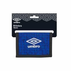 BILLETERA SAFTA 9,5X12,5 UMBRO BLACK&BLUE 812037036