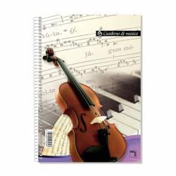 BLOC MUSICA PACSA 16 PENTAGRAMAS ESPIRAL Fº 10UD