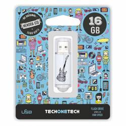 MEMORIA (++) USB 2.0 TECHONETECH 16GB GUITARRA ELECTRICA