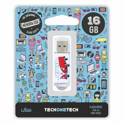MEMORIA (++) USB 2.0 TECHONETECH 16GB CAMPER VAN-VAN