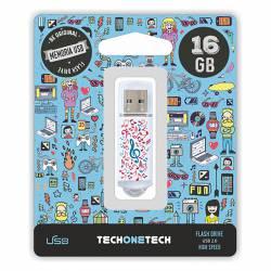 MEMORIA (++) USB 2.0 TECHONETECH 16GB MUSIC DREAM